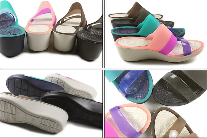 Crocs Crocs colorblock wedge w color-block wedge women 200031