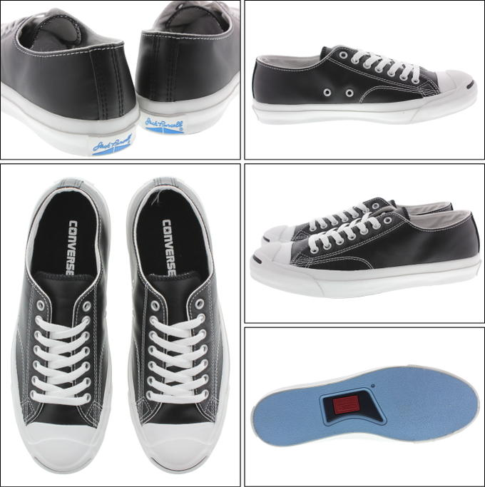 CONVERSE converse leather converse Jack Purcell OX black fs3gm