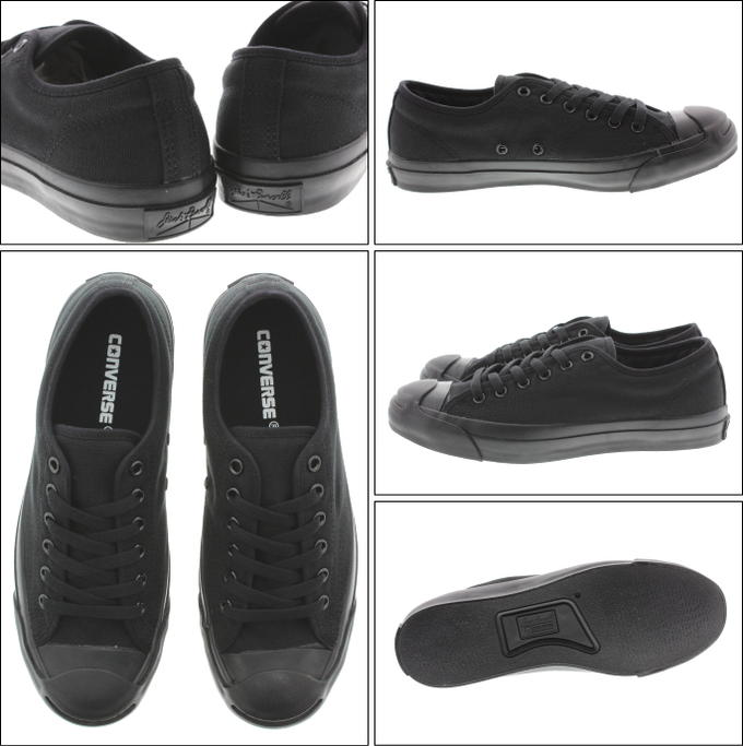 CONVERSE converse Jack Purcell OX black monochrome fs3gm