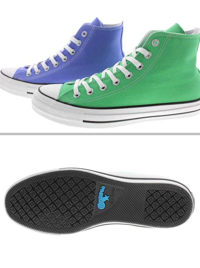 Converse CONVERSE sneakers all stars 100 colors high ALL STAR 100 COLORS HI purple (1SC068) green (1SC069) [returned goods, exchange impossibility]