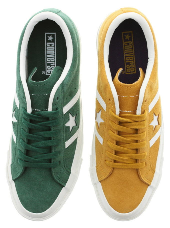 Converse CONVERSE sneakers star & Byrds suede team color STAR & BARS SUEDE TEAMCOLORS green (1CL409) yellow (1CL410) [returned goods, exchange