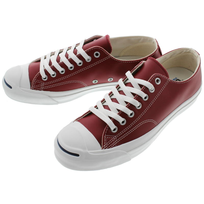 Converse CONVERSE leather Jack Pursel LEA JACK PURCELL RH burgundy