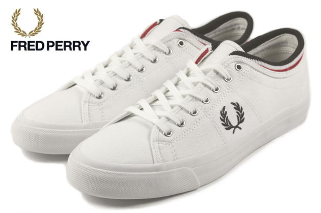 FRED PERRY Fred Perry TIPPED CUFF CANVAS KENDRICK Kendrick tipped cuff  canvas white B5210-100