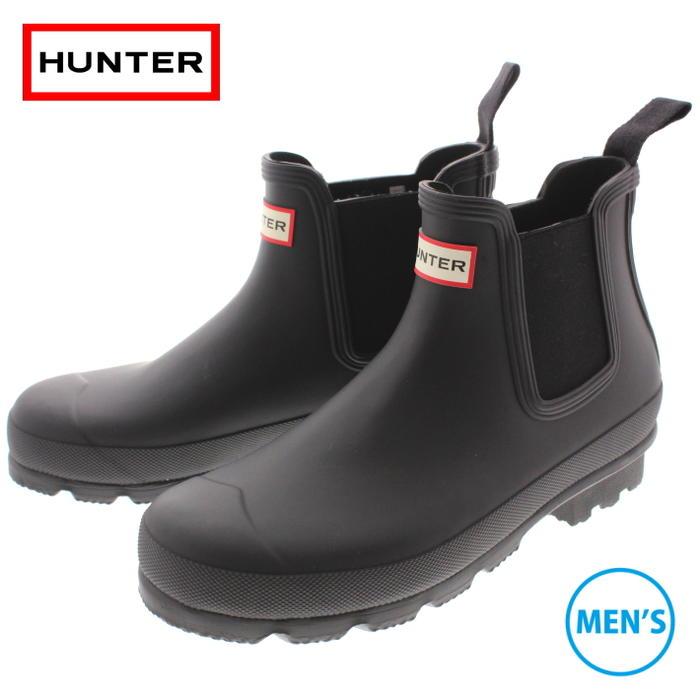 ハンター HUNTER ブーツ メンズ オリジナル チェルシー MENS ORIGINAL CHELSEA ブラック MFS9075RMA-BLK [T]【FMOM】