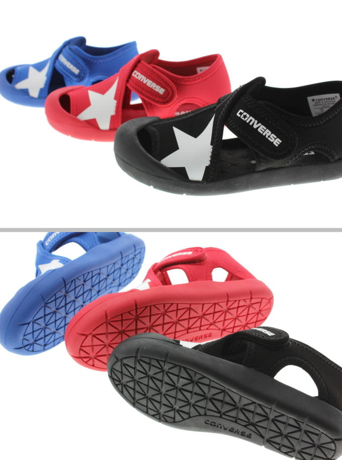 Child Converse CONVERSE kids CV star sandals KIDS CVSTAR SANDAL black (3CL424) red (3CL425) blue (3CL426) [returned goods, exchange impossibility]