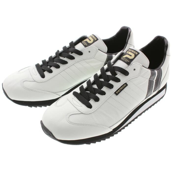 [プレゼントあり]交換・返品送料無料 パトリック PATRICK スニーカー マラソン レザー MARATHON-L ホワイト/ブラック W/B 98900