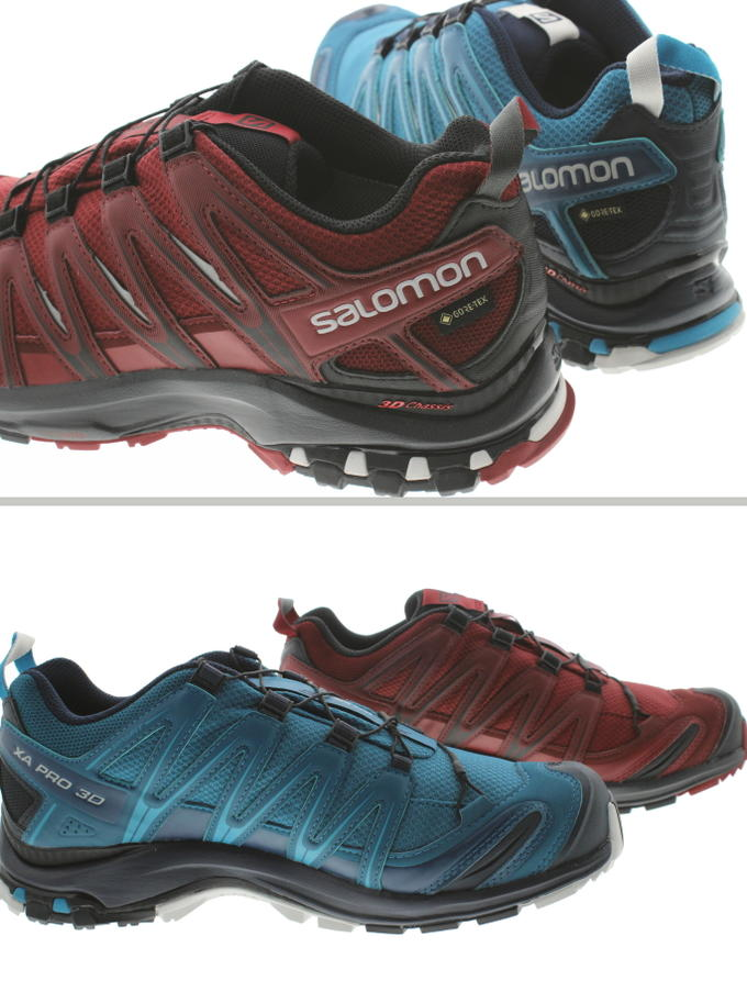 salomon trail running shoes XA pro 3D Gore Tex XA PRO 3D GTX scilla ebony (408098) Lyon blue (407893) [during period limited 10% OFF coupon