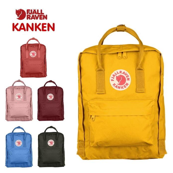 定番 フェールラーベン FJALL RAVEN バッグ カンケン Kanken 23510 141(ウォームイエロー) 307(ダリア) 312(ピンク) 326(オックスレッド) 525(UNブルー) 662(ディープフォレスト) [BG]【FNOG】