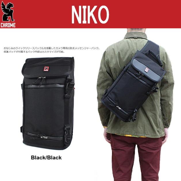 定番 クローム CHROME バッグ ニコ (ニコ メッセンジャー) NIKO (NIKO MESSENGER) ブラック/ブラック BG134-BKBKNANA [BG]【FMOH】