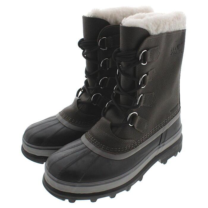 ソレル SOREL メンズ ブーツ カリブー ウール CARIBOU WL クオリー/ブラック NM1481-053 [T]【FNFF】