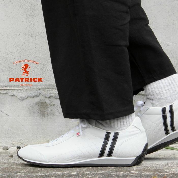 [プレゼントあり]交換・返品送料無料 定番 パトリック PATRICK スニーカー アイリス IRIS ホワイト/ブラック WH/BK パトリック スニーカー 23501 [N]