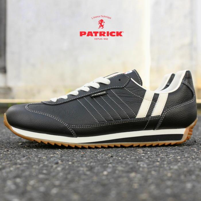 [プレゼントあり]交換・返品送料無料 定番 パトリック PATRICK スニーカー MARATHON-L マラソン レザー BLK ブラック 98701