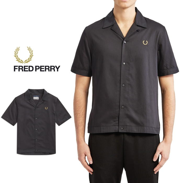 d357d893c Sneakersoko  Fred Perry FRED PERRYware miles Kane bowling shirt black  SM5157-102  WA