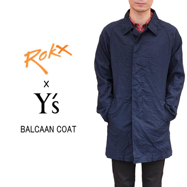 ROKX ロックス ROKX X Ys BALCAAN COAT ロックスXワイズ バルカーンコート ネイビー YU-C90-993-NVY [WA]【FJFO】【DEAL】