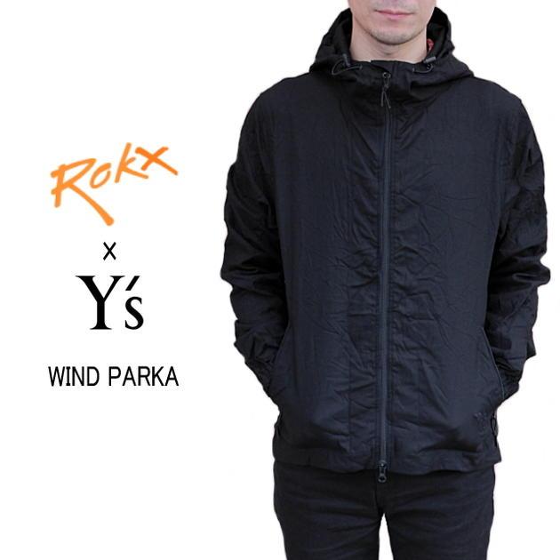 ROKX ロックス ROKX X Ys WIND PARKA ロックスXワイズ ウインドパーカ ブラック YU-Y90-993-BLK [WA]【FJFO】【DEAL】