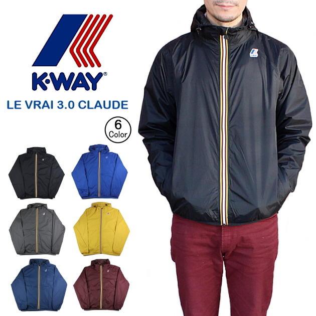 定番 ケーウェイ K-WAY ナイロンジャケット LE VRAI 3.0 CLAUDE K004BD0 [WA]