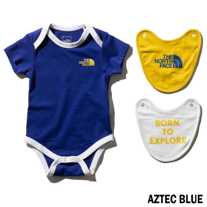 efec2a635 Children's clothes North Face THE NORTH FACE short sleeve rompers & 2P bibb  NTB11969 Leo gone Doi Herault (LY) as technical center blue (AB) mixture ...