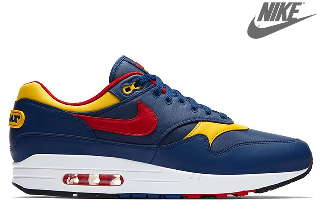 nike air max 1 navy blue red