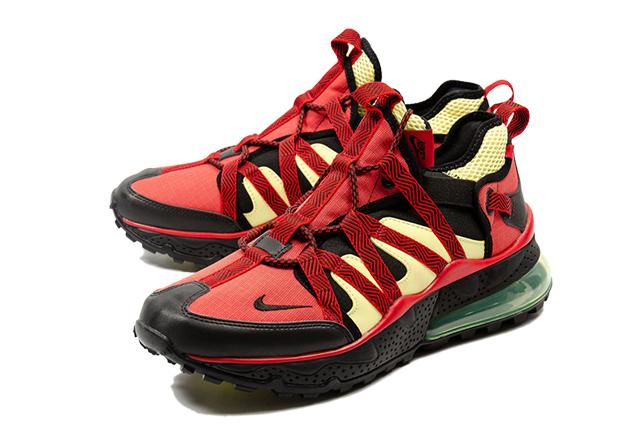 NIKE AIR MAX 270 BOWFIN AJ7200 003 BLACKBLACKUNIVERSITY RED LIGHT CITRON Kie Ney AMAX 270baud fin red yellow limited men's sneakers