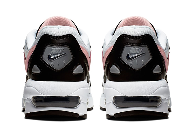 NIKE W AIRMAX2 LIGHT AO3195 101 WHITEBLEACHED CORAL BLACK SAIL Nike women Air Max 2 white Coral black men sneakers
