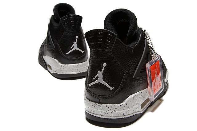 """耐克空气约旦 4 复古 LS""""奥利奥""""314254-003 黑/科技灰黑色耐克空气 Jordan 4 复古奥利奥黑 TEC 灰色生活方式男式运动鞋"""