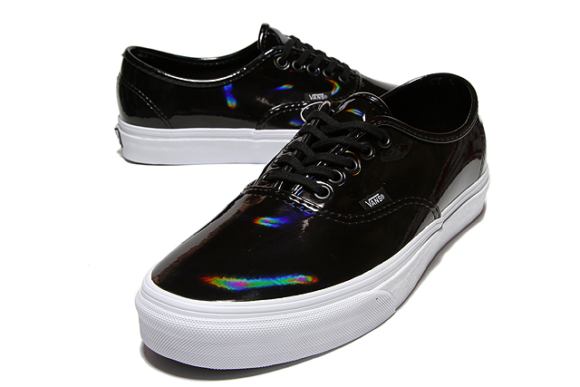Vans Authentic Svart Lakksko RpsH6ge52