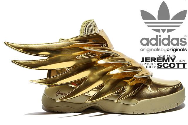 ... Originals JS Wings 3.0 Gold Metallic - WearTesters ADIDAS ObyO x Jeremy  Scott ... c37670af0b