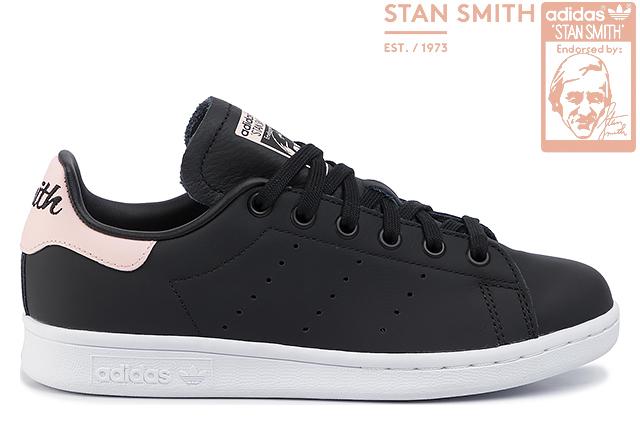 adidas Originals STAN SMITH W EE5866 CORE BLACK/ICEY PINK/FTWR WHITEアディダス オリジナルス スタンスミス ウィメンズ コアブラック アイシーピンク フットウェアホワイト レディース ガールズ スニーカー 定番