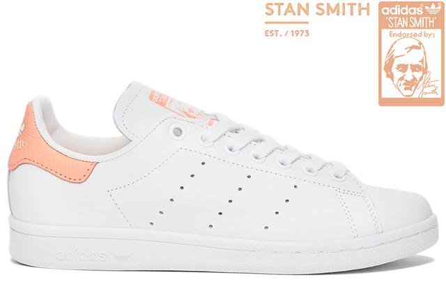 adidas Originals STAN SMITH W EF6884 FTWR WHITE/CHALK CORALアディダス オリジナルス スタンスミス ウイメンズ ホワイト コーラル ピンク レディース スニーカー 定番