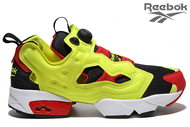 Reebok Insta Pump Fury OG 20th Anniversary Citron Black Yellow Red (V47514)