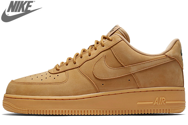 NIKE AIR FORCE 1 '07 WB AA4061-200 FLAX/FLAX-GUM LIGHT BROWN-OUTDOOR GREENナイキ エア フォース 1 ロー 07 フラックス WHEAT ウイート メンズ スニーカー 定番