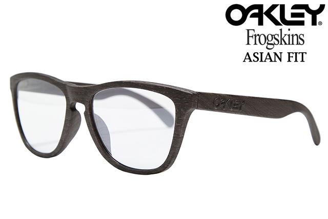 奥克利 FROGSKINS 太阳镜亚洲适合 9245 03 木纹/钛清除铱 Oakley 青蛙皮肤亚洲适合的太阳镜木纹 Tita 两个 UM 清除