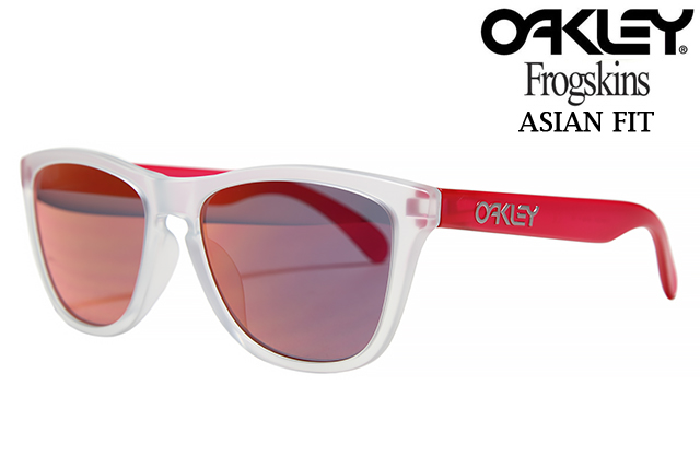 OAKLEY FROGSKINS SUNGLASSES OO9245-52 ASIAN FIT MATTE CLEAR/MATTE TRANSPARENT PINK/TORCH IRIDIUMオークリー フロッグスキン 9245 52 54 アジアンフィット マット クリア ピンクメンズ レディース サングラス