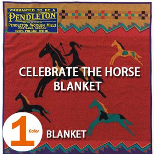 PENDLETON 「CELEBRATE THE HORSE COLLECTION」 BLANKET RED ZL494 ペンドルトン セレブレイト ザ ホース ブランケット レッド