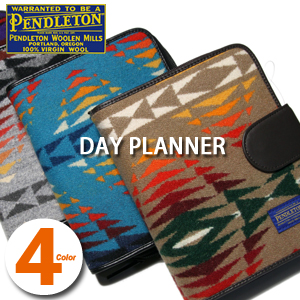PENDLETON DAY PLANNER XZ929 Pendleton day planner system pocketbook diary beige black gray blue bag native