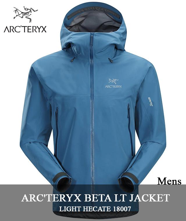 2018 F/W ARC'TERYX 「BETA LT JACKET」 18007 LIGHT HECATEアークテリクス ベータ LT ジャケット ゴアテックス ライト ヘカテ ブルー arcteryx メンズ キャンプ 登山 アウトドア マウンテンパーカー