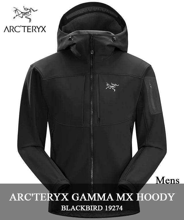2018 F/W ARC'TERYX 「GAMMA MX HOODY」 19274 BLACK BIRDアークテリクス ガンマ MX フーディ ブラック バード arcteryx メンズ キャンプ 登山 アウトドア マウンテンパーカー