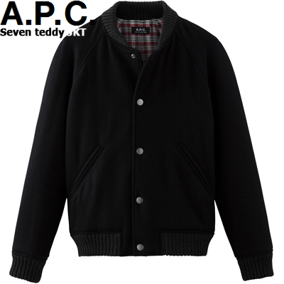 A.P.C. HOMME SEVEN TEDDY JACKET BLACK h02188アーペーセー セブン テディー ジャケット ブラック APC メンズ WSAP
