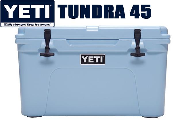 YETI COOLERS TUNDRA 45qt ICE BLUE yt45byeti イエティ クーラー ボックス タンドラ アイスブルー クーラーBOX キャンプ アウトドア 釣り 大容量 USA 日本未発売カラー