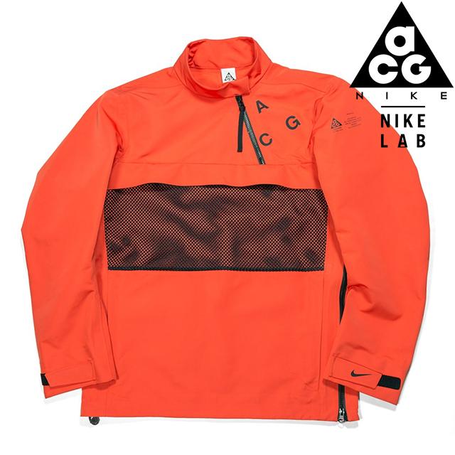 NIKE LAB ACG COLLECTION PULLOVER SHELL TEAM ORANGE/BLACK 914477-891ナイキラボ エーシージー ACRONYM アクロニウム プルオーバー シェル チームオレンジ ブラック メンズ MENS コラボ