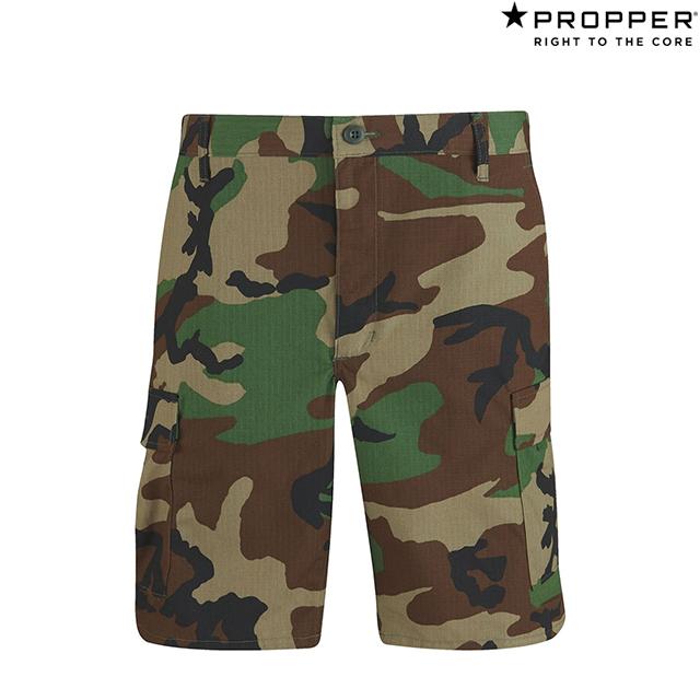Propper BDU Shorts - 100% Cotton Ripstop F5261 Woodland Camoプロッパー BDU ショーツ カーゴ アーミー ミリタリー ショートパンツ ウッドランド カモ 迷彩 アメリカ軍