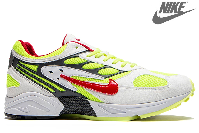 NIKE AIR GHOSTRACER AT5410-100 WHITE/ATOM RED-NEON YELLOW-DARK GREYナイキ エア ゴースト レーサー ホワイト レッド イエロー 限定 メンズ スニーカー