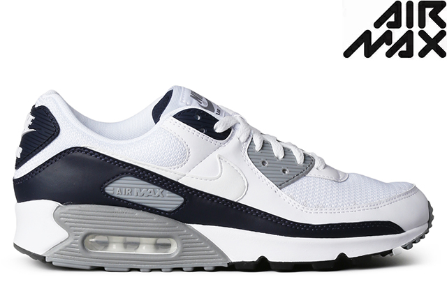 NIKE AIR MAX 90 CT4352-100 WHITE/WHITE-PARTICLE GREY-OBSIDIANナイキ エア マックス 90 ホワイト グレー オブシディアン メンズ レディース スニーカー