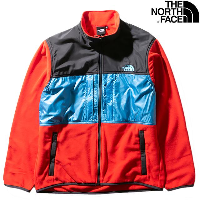 THE NORTH FACE MEN'S BRIGHT SIDE FLEECE JACKET NL22031-FR FIRERY REDザ ノースフェイス ブライト サイド フリース ジャケット ファイヤリー レッド メンズ アウトドア