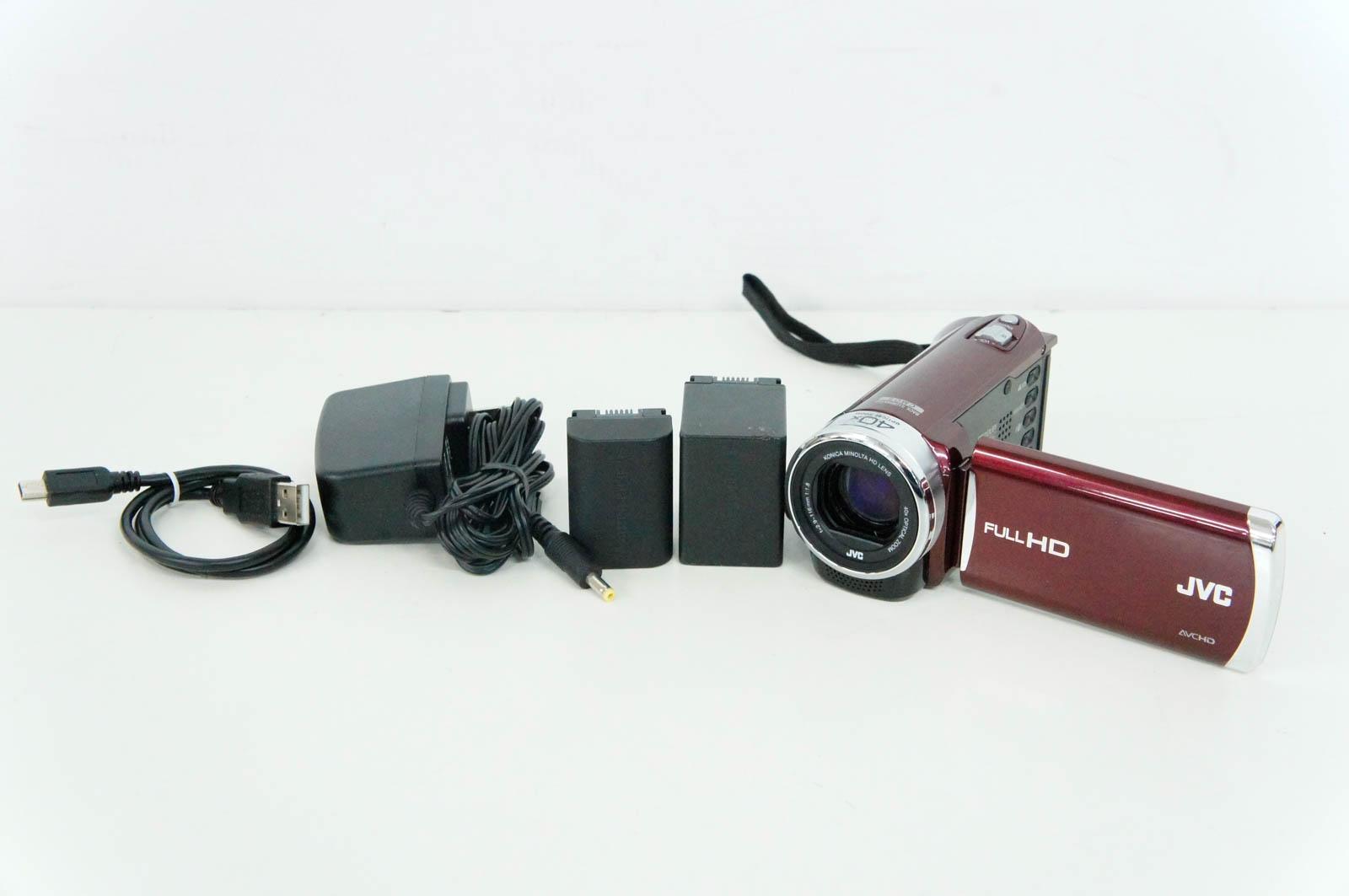 【中古】JVC Victorビクター デジタルムービー エブリオEverio GZ-E220-R 8GB内蔵メモリー ビデオカメラ