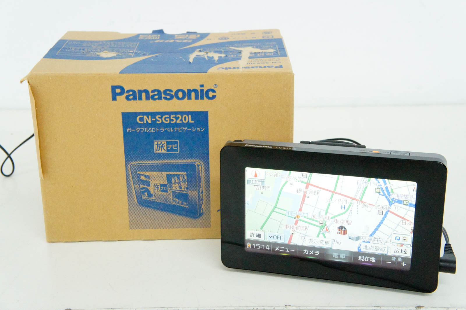 【中古】Panasonicパナソニック ポータブルSDトラベルナビゲーション CN-SG520L
