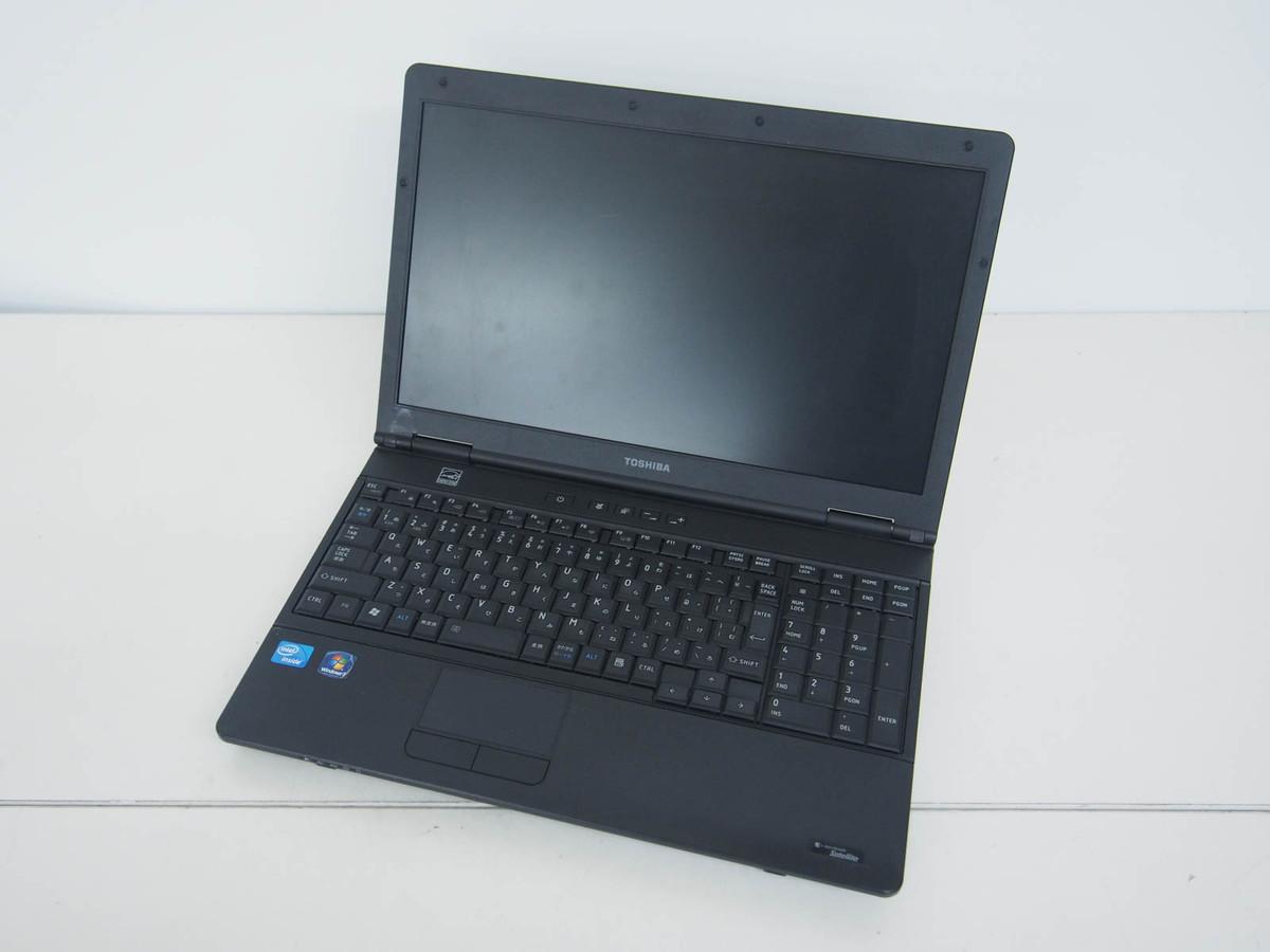 【中古】ノートパソコン/東芝/15.6インチ/Windows7Pro/intel Celeron B800 1.50GHz/メモリ2GB/HDD250GB/dynabook Satellite B451 D (PB451DNBN75A51)