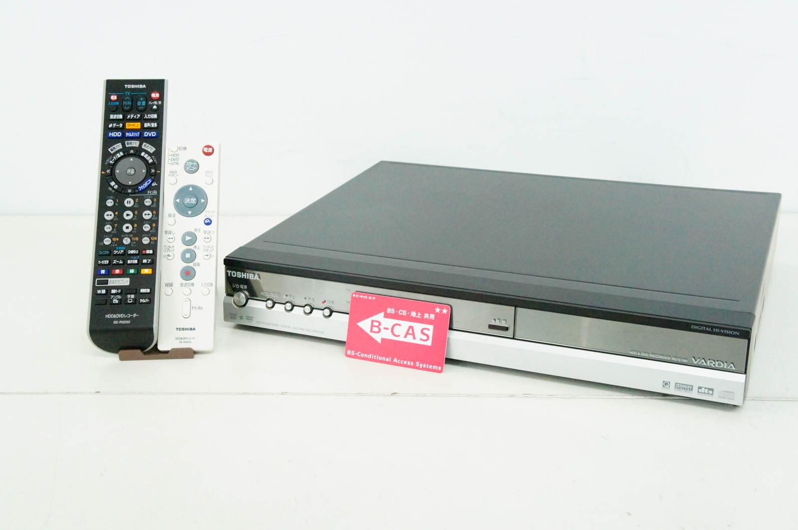 【中古】東芝TOSHIBA DVDレコーダー HDD160GB DVD-RAM/-R/-RW/-R DL 地上デジタルチューナー搭載 RD-E160