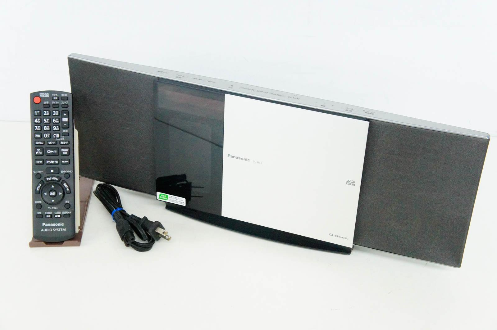 【中古】Panasonicパナソニック コンパクトステレオシステム D-dock SC-HC4 オーディオ