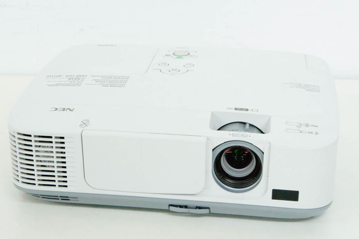 【中古】NEC データプロジェクター NP-M300XJL 3000lm XGA表示 ViewLight ランプ使用463H